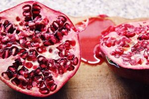 Sliced Pomegranate fruit