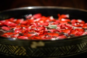 Rose Petals in Basin
